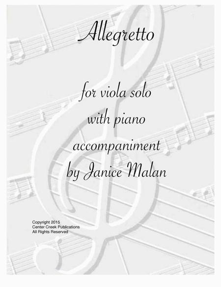 Allegretto for Viola solo with piano accompaniment