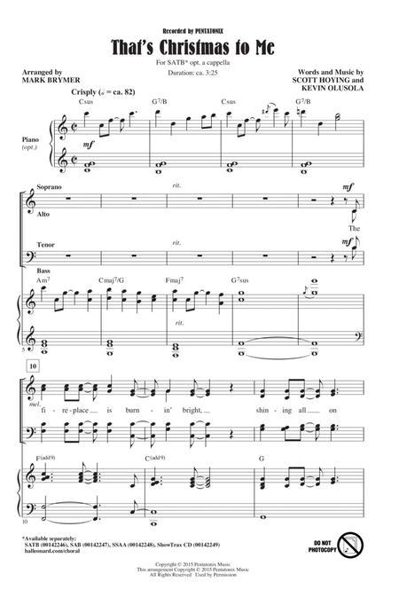 Pentatonix Thats Christmas To Me.That 039 S Christmas To Me By Pentatonix Digital Sheet