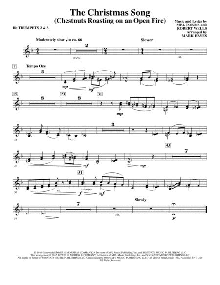 The Christmas Song (Chestnuts Roasting On An Open Fire) - Bb Trumpet 2,3