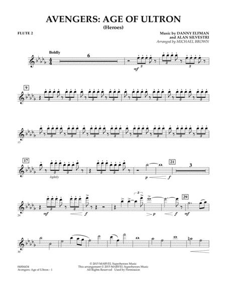 Avengers: The Age of Ultron (Main Theme) - Flute 2