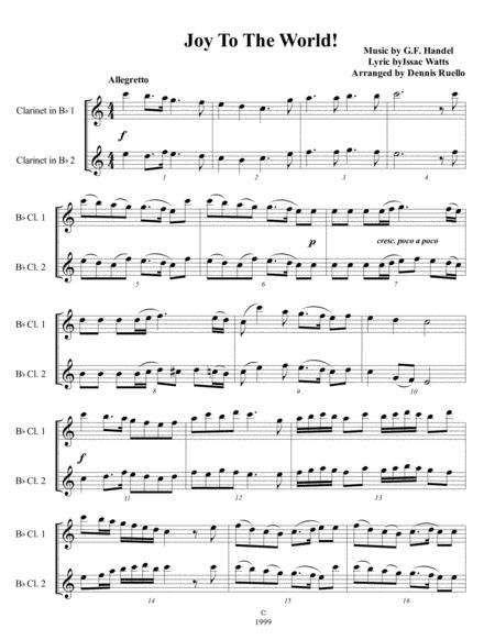 Download 6 Christmas Carols For Clarinet Duet - Intermediate Level