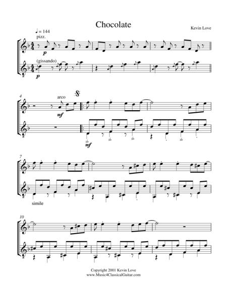 Chocolate (Violin and Guitar) - Score and Parts