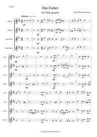 Our Father for flute quartet