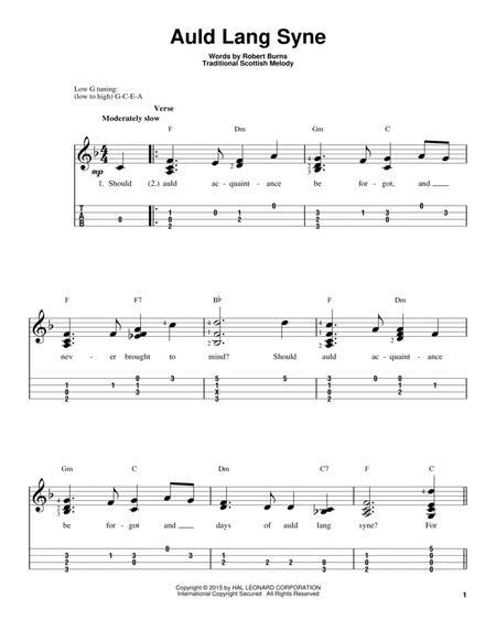 Download Auld Lang Syne Sheet Music By Robert Burns Sheet Music Plus