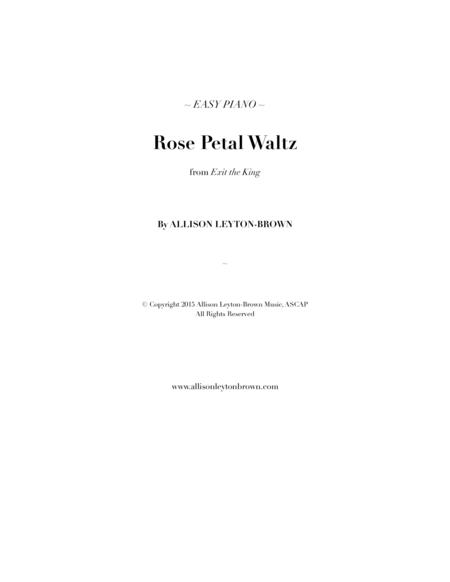 Rose Petal Waltz - Easy Piano Solo - by Allison Leyton-Brown