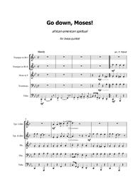 Go down, Moses! - african-american spiritual for brass quintet - Score and parts