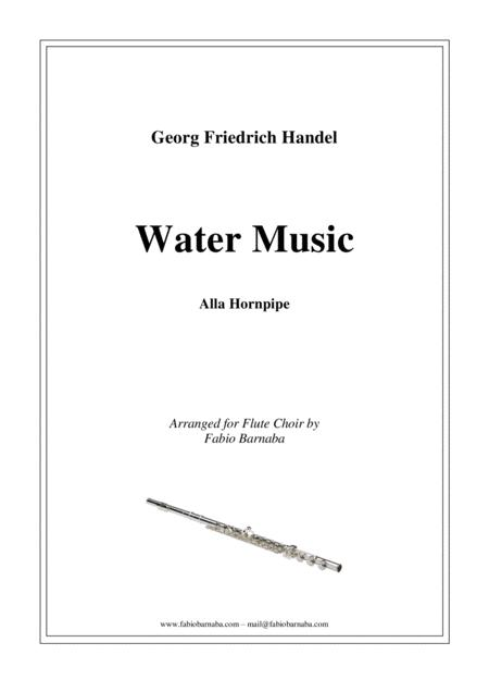 Water Music - Alla Hornpipe - for Flute Choir