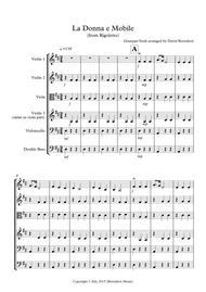 La Donna e Mobile (from Rigoletto) for String Orchestra