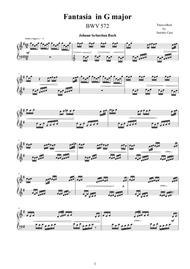 Fantasia in G major BWV 572