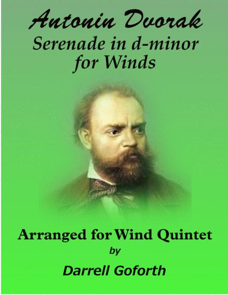 Serenade for Winds, Cello and Bass in d-minor for Winds arranged for Wind Quintet