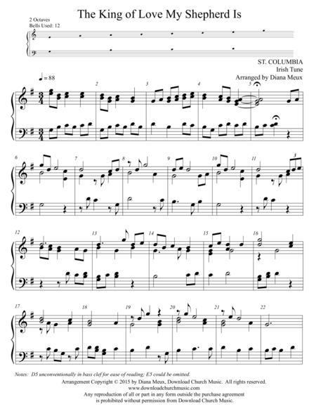 The King of Love My Shepherd Is (Handbells or handchimes - 2 octaves)