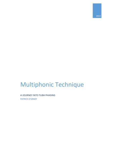 Multiphonics for Tuba