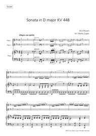 W.A. Mozart: Sonata in D major, KV 448 for 2 Flutes and Piano