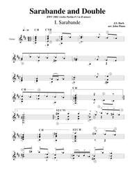 Sarabande and Double (BWV1002 Violin Partita #1 in B minor)