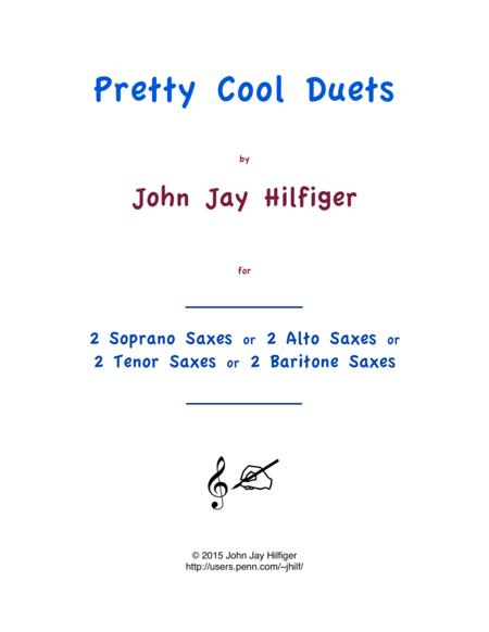 Pretty Cool Duets for Saxophones