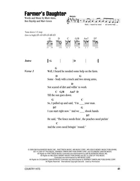 Download Farmers Daughter Sheet Music By Marv Green Sheet Music Plus