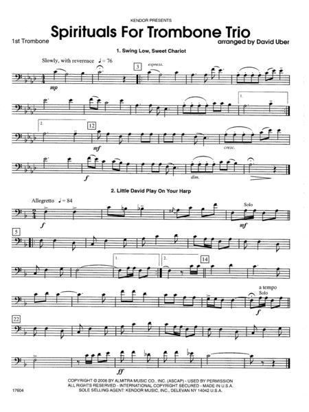Spirituals For Trombone Trio - 1st Trombone