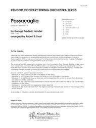 Passacaglia - Full Score