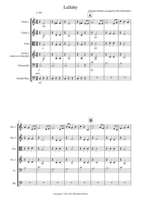 Brahms Lullaby for String Orchestra