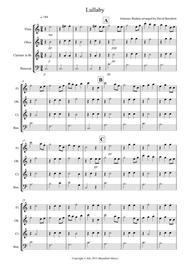 Brahms Lullaby for Wind Quartet