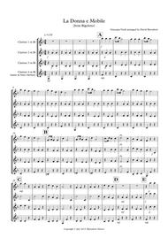La donna e Mobile (from Rigoletto) for Clarinet Quartet