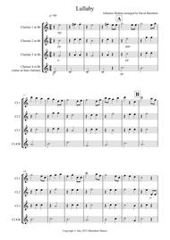 Brahms Lullaby for Clarinet Quartet