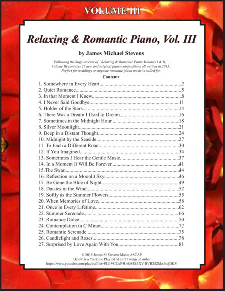 Relaxing & Romantic Piano, Vol. III