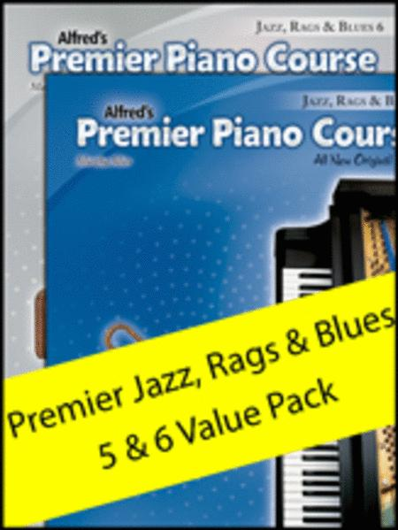 Premier Piano Course Jazz, Rags & Blues 5-6 (Value Pack)