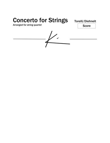 Torelli: Concerto for strings, Op 6, No. 1 -  for string quartet