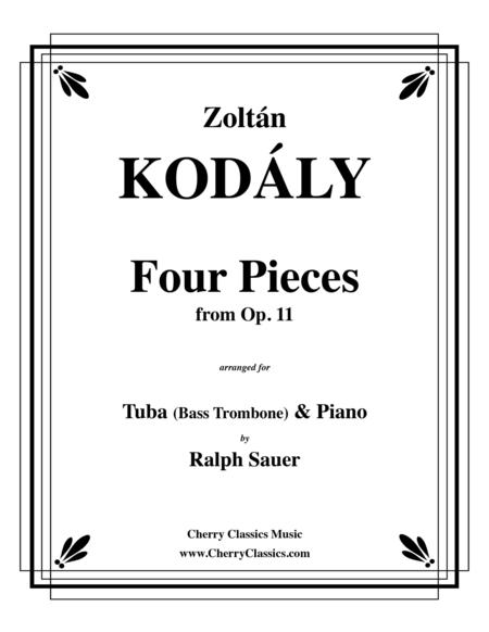 Four Pieces from Op. 11 for Tuba or Bass Trombone and Piano
