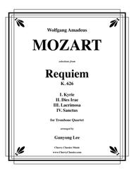 requiem, k. 626 selections for trombone quartet by wolfgang amadeus mozart  (1756-1791) - score and parts sheet music for trombone quartet - buy print  music cy.cc2721   sheet music plus  sheet music plus