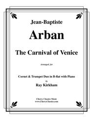 The Carnival of Venice for Cornet and Trumpet Duo with Piano accompaniment