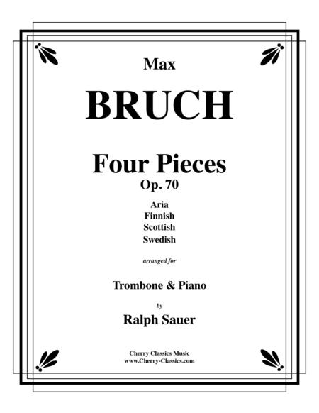 Four Pieces, Op. 70 for Trombone and Piano