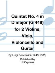 Quintet No. 4 in D major (G 448) for 2 Violins, Viola, Violoncello and Guitar
