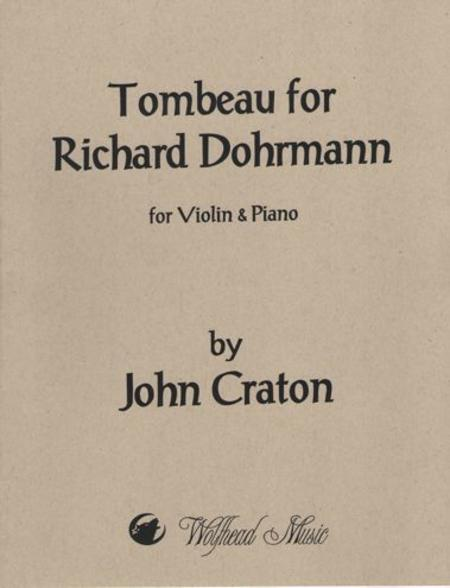 Tombeau for Richard Dohrmann