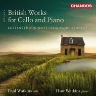 British Works for Cello & Piano, Vol. 4