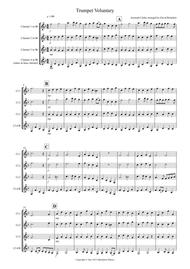 Trumpet Voluntary for Clarinet Quartet