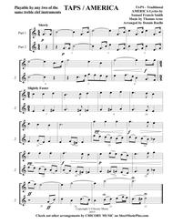 TAPS / AMERICA (Duet) - Any  two similar treble clef instruments - Intermediate