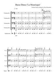 Basse Dance by Susato for Cello Quartet