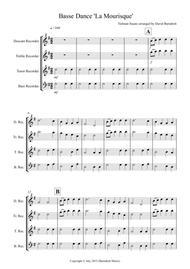Basse Dance by Susato for Recorder Quartet