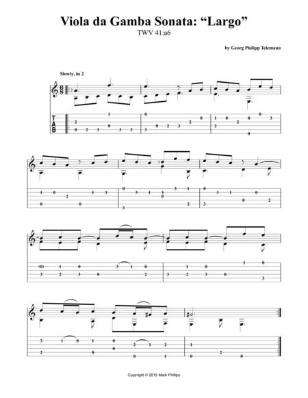 "Viola da Gamba Sonata: ""Largo"""