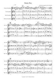 Danny Boy for Saxophone Quartet