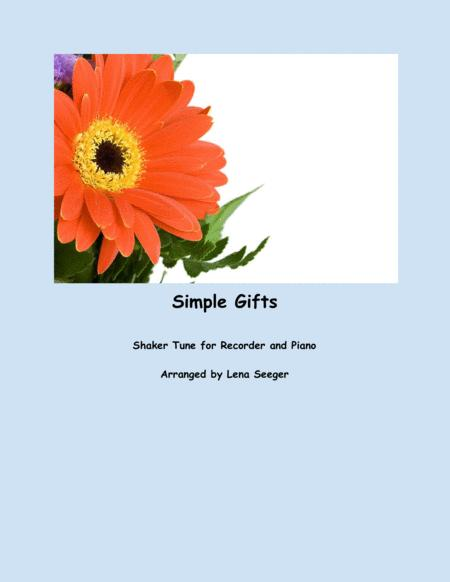 Simple Gifts (Recorder and Piano)