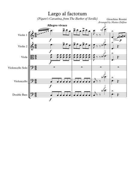 Largo al factotum (Figaro's Cavatina, from The Barber of Seville) [String Orchestra]