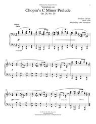 Variations On Chopin's C Minor Prelude