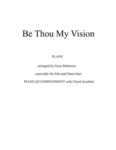 Be Thou My Vision (SLANE) Vocal Duet (Alto Tenor)