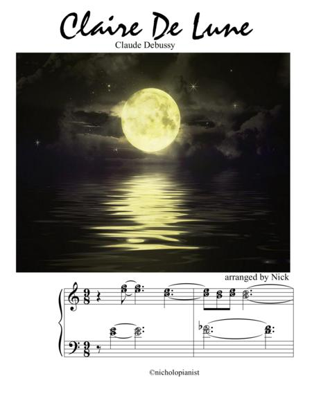 Claire De Lune in C Major by Debussy Its Easy to Play Series for advanced pianist