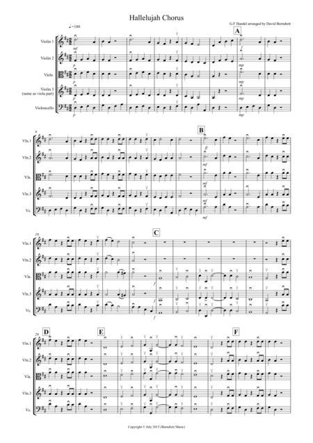 Hallelujah Chorus for String Quartet