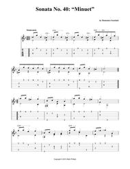 "Sonata No. 40: ""Minuet"""