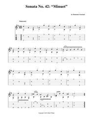 "Sonata No. 42: ""Minuet"""